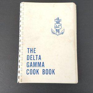 Delta Gamma Cook Book 1966 Spiral Bound Recipes